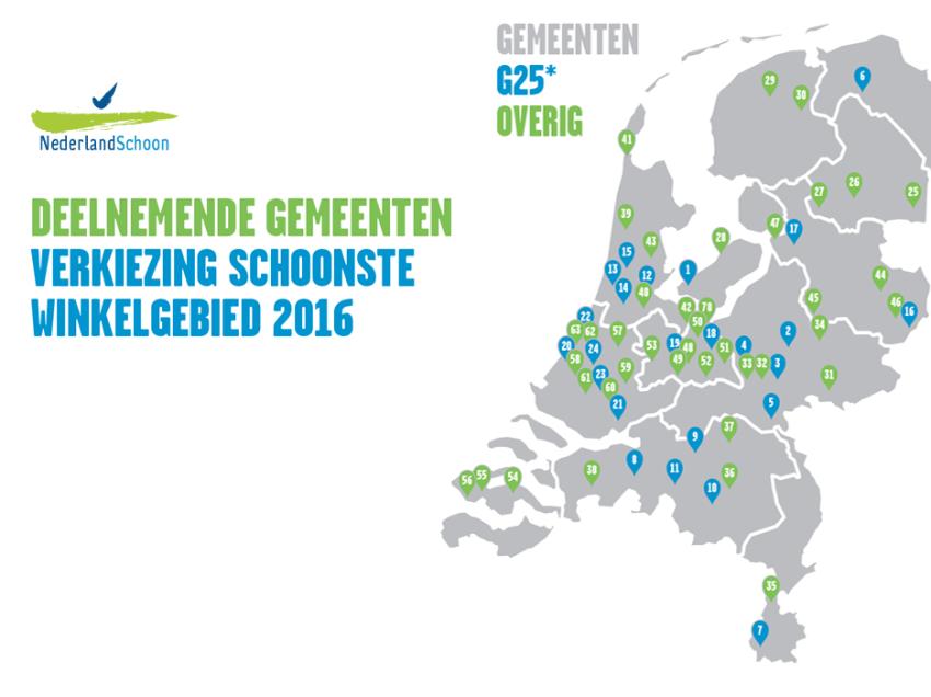 Schoonste Winkelgebied Verkiezing van NederlandSchoon weer van start