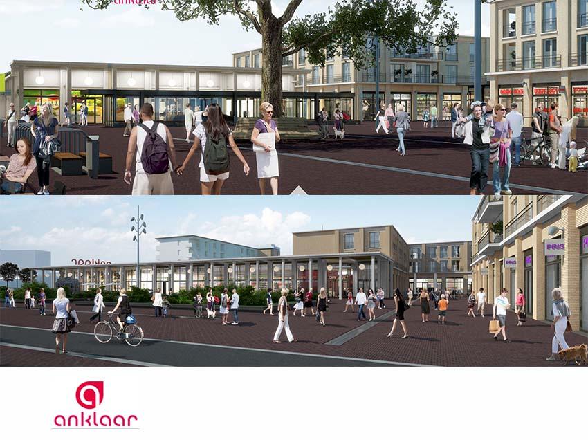 Start bovenbouw winkelcentrum Anklaar (Apeldoorn)